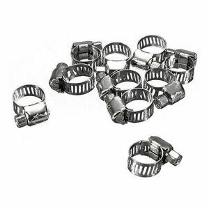 10x-Gelenkbolzenschellen-Schlauchschellen-Bandschelle-Bandbreite-Stahl-6-12-P0E8