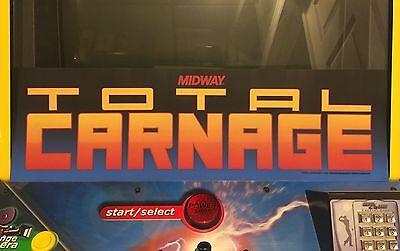 Smash TV Arcade Marquee Midway Williams Translight Header Sign Backlit