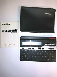 Franklin-Crosswords-Puzzle-Solver-CW-50-With-Soft-Case-amp-Manual-Free-Shipping