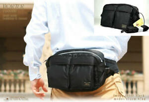 MEN YOSHIDA PORTER TANKER 2 way NEW WAIST BAG shoulder bag Black   eBay b83ad4c019