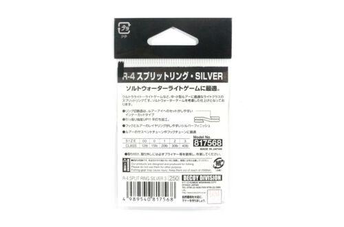 7520 Decoy R-4 Split Rings Light Class Silver Size 00