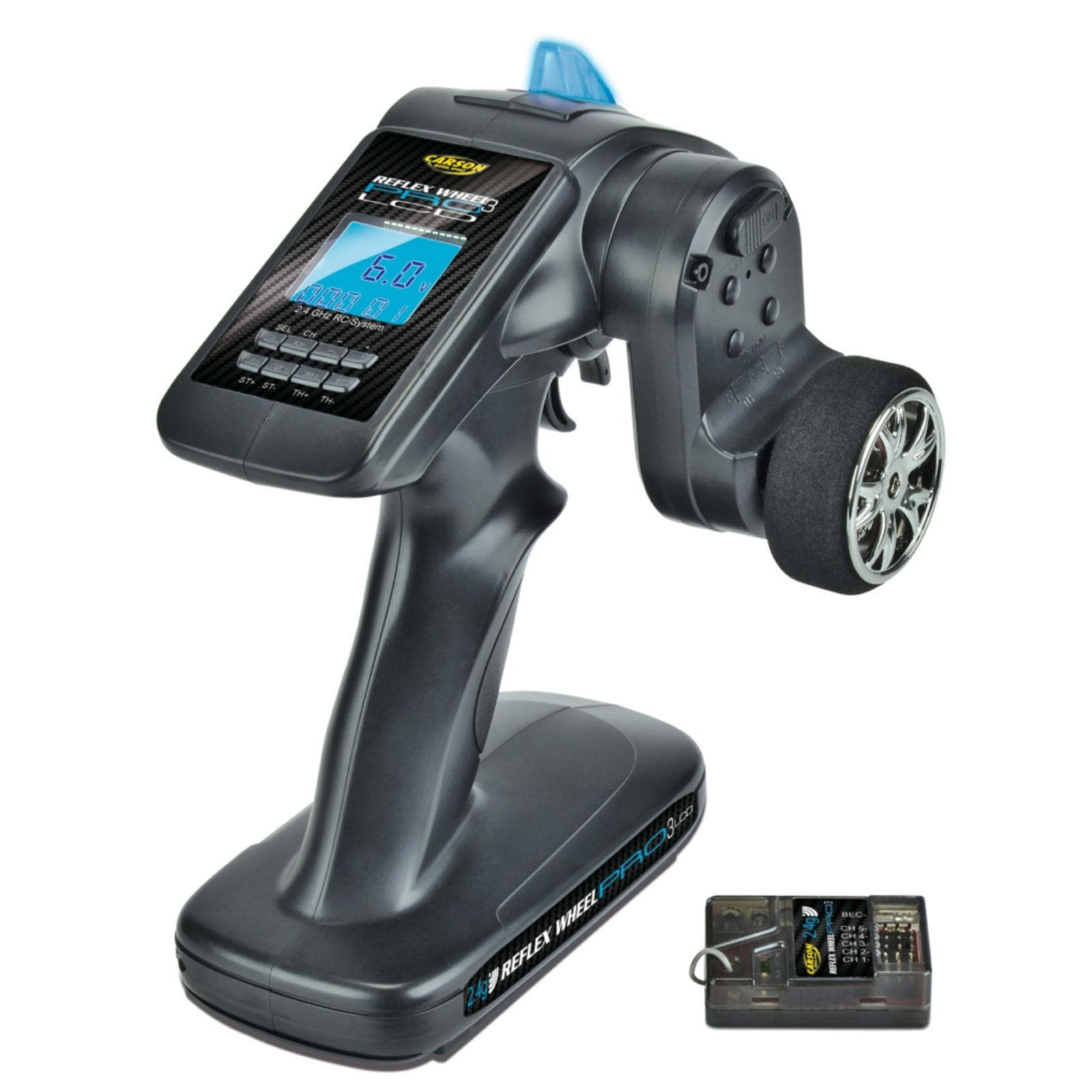 Carson 500500055 Reflex Wheel Pro III LCD 2.4 GHz BEC ruota di selezione telecomando