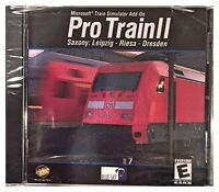 Microsoft Train Simulator Pro Train Ii 2 (pc, 2002) Brand Sealed - Nice
