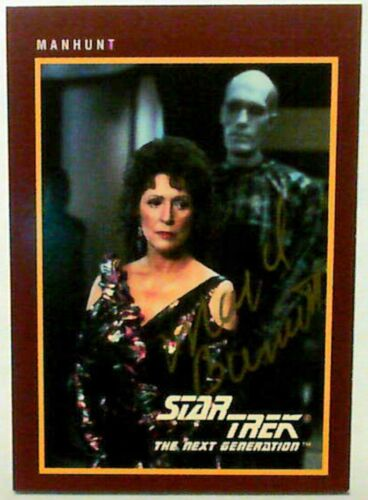 1991 Star Trek MAJEL BARRETT AUTO #168 Manhunt Card With 1310 card set + Holos