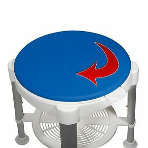 Rotating Bath Shower Stool Padded Seat 450 Lb Weight