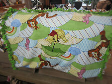 BABY POOH BEAR PIGLET TIGGER RAINBOW UMBRELLA  FLEECE BLANKET