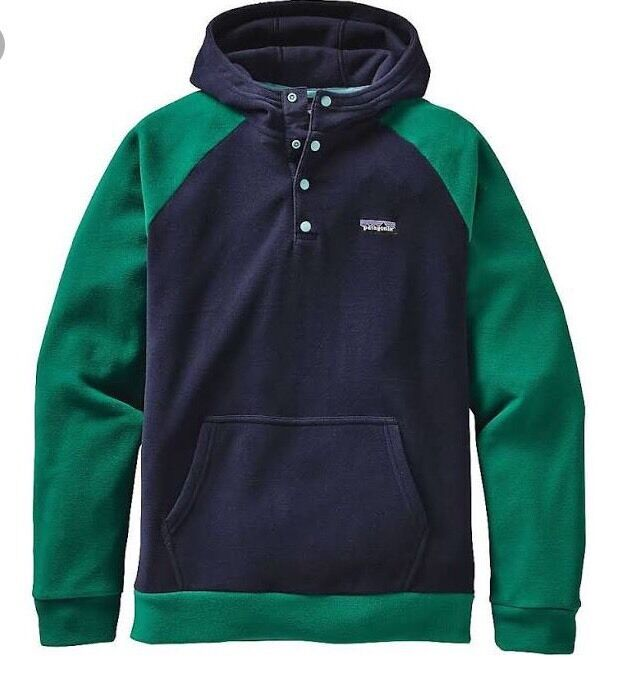 Patagonia Micro D Hoody SOLD OUT NAVY blueE AND GREEN XL NOTRE DAME