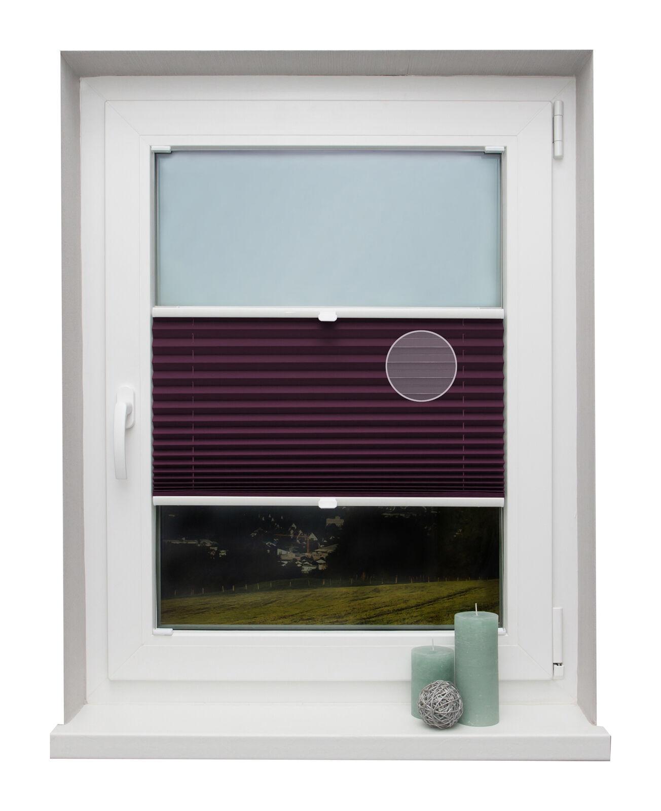Thermo-Plissee auf Maß lilat für alle Fenster Montage in der Glasleiste | Shop