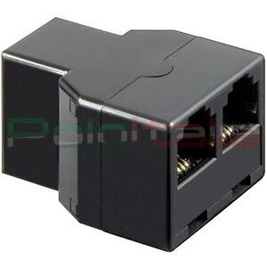 PréCis Adattatore Telefono Rj11 Accoppiatore Porta Switch Hub Da 1 Femmina A 2 Femmina Limpide à Vue