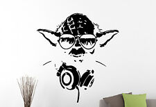 Master Yoda Vinyl Decal Star Wars Wall Sticker Movie Hero Art Room Decor 2ewsx