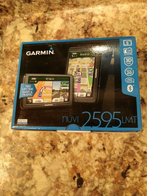 "New Garmin Nuvi 2595lmt HD 5"" Touchscreen GPS w Bluetooth Lifetime Maps"