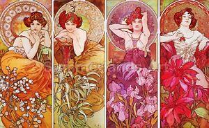 Alphonse Mucha Precious Stones Fine Art Print High