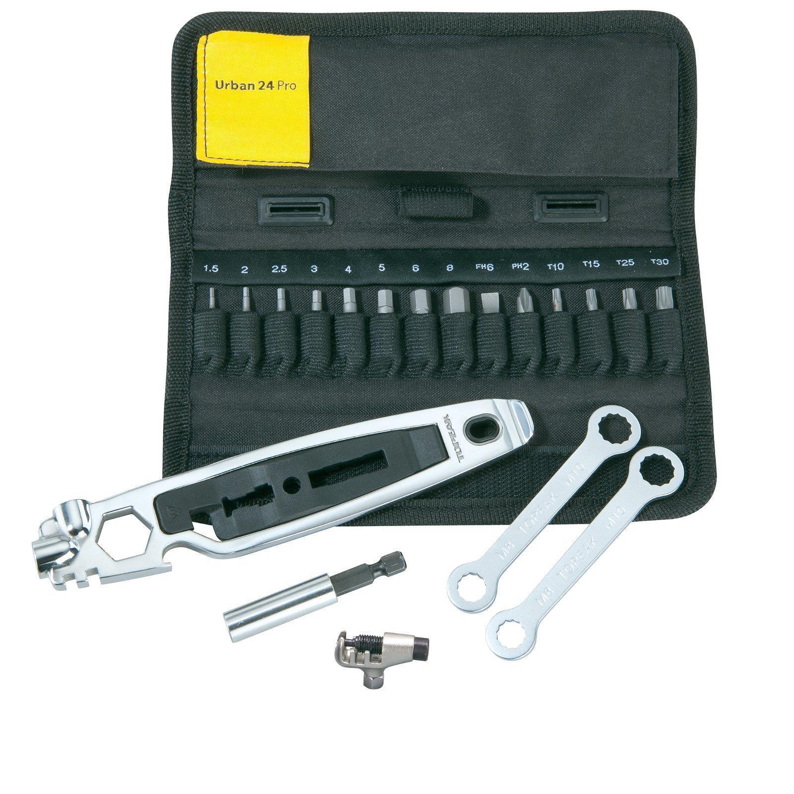 Topeak Prep 25 funciones herramienta de acero inoxidable multi herramienta profesional set bolsa tt2553