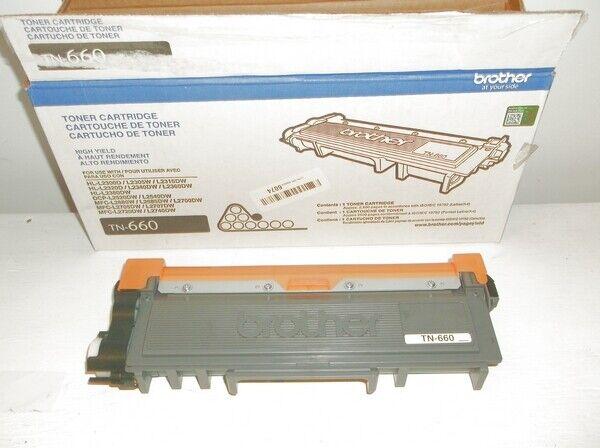 Genuine Brother TN660 High Yield Toner Cartridge - Black --- Read