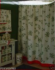 Christmas Lenox Holiday Holly Fabric Shower Curtain 72x72 In NWT