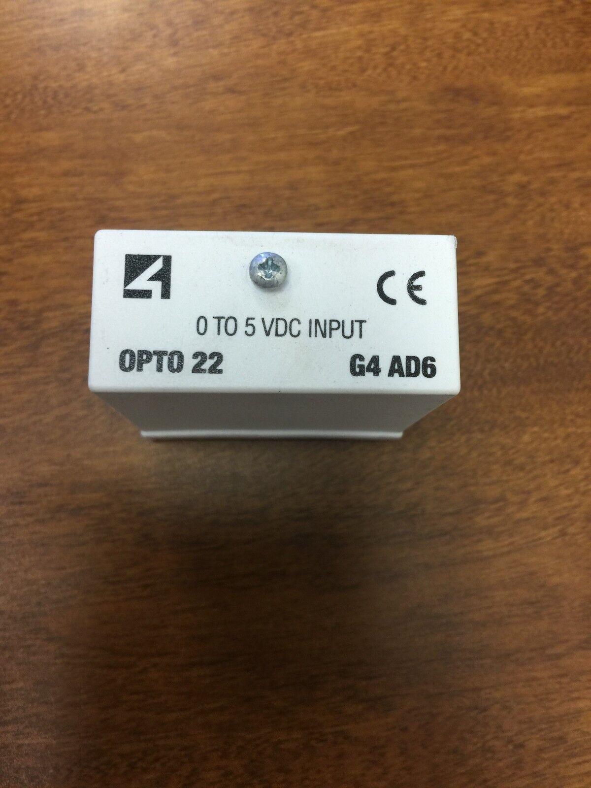 OPTO 22 G4AD6 G4 Analog I O Module  0-5 Volt AC DC Input - lot of 5