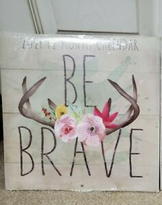 2021 Be Brave Calendar From Dollar Tree Nip Ebay