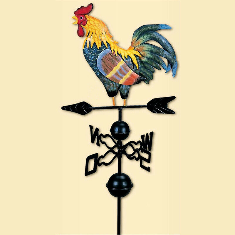 Metal Weather Vane with Rooster Ornament Wind Vane Weather Vain for Roof We L8U4