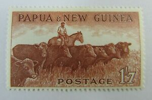 Papua-amp-New-Guinea-SC-144-Cattle-MH-stamp