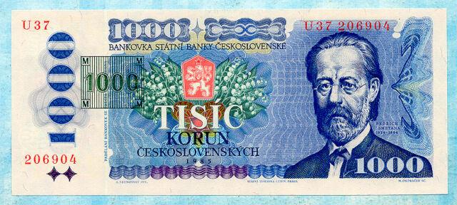 CZECH REPUBLIC 1000 Korun 1993 P3b UNC