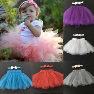 Image Is Loading Cute Newborn Toddler Baby Girl Tutu Skirt Headband