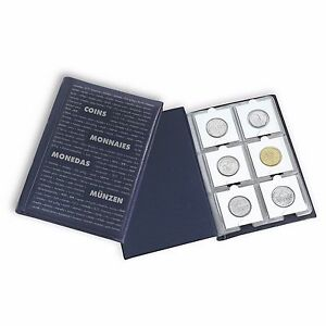Album-Numismatique-pour-60-Pieces-de-Monnaie-60-Etuis-de-Protection