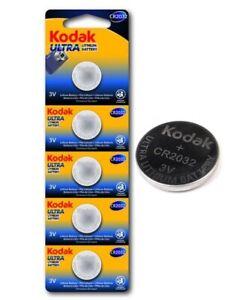 5X-Kodak-Ultra-CR2032-pila-3V-Litio-Pack-de-5-unidades-En-blister