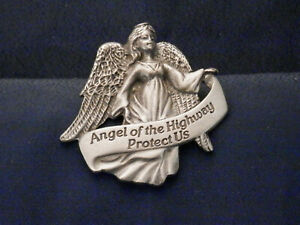 034-Angel-of-the-Highway-Protect-Us-034-Pewter-Visor-Clip-KVC119