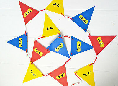 Lego NINJAGO Birthday Party Bunting / Banner / Decoration / Garland - NEW