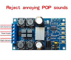 Digital Amplifier Bluetooth Power Board Dual Channel 50Wx2 Without POP Sound