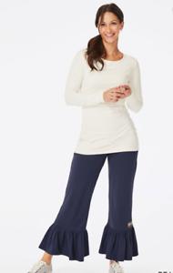 Matilda-Jane-Peacoat-Big-Ruffles-Size-Small-Pants-Womens-New-In-Bag-Navy-Blue