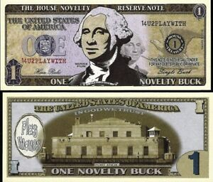 Golfing Fore Dollar Bill Fake Play Funny Money Novelty Note with FREE SLEEVE
