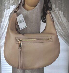 b84e91b008b9f1 MICHAEL KORS Rhea Zip BLUSH Shoulder bag PURSE Tote Leather Medium ...