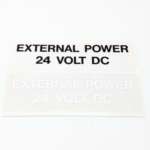 EXTERNAL POWER 24V DC placard