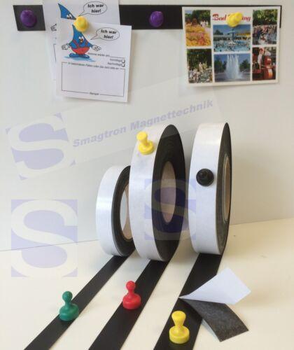 Eisenband Ferroband Meterware selbstklebend 0,6mm x 30mm x 1m Eisenfolie