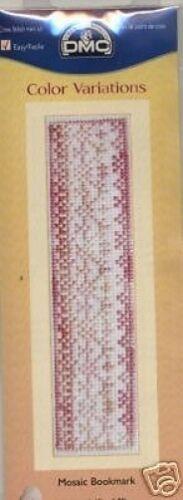 Mosaic Bookmark Cross Stitch Kit DMC