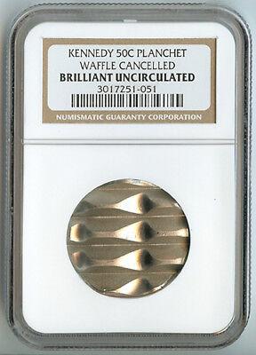 50c HALF DOLLAR BLANK PLANCHET MINT CANCELLED US COIN PCGS