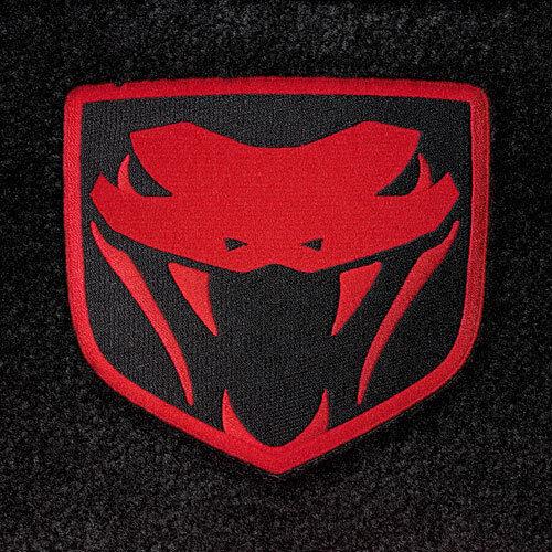 LLOYD Velourtex™ FLOOR MATS with Red logos; fits 2008-2010 Dodge Viper SRT-10