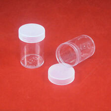 100 Round Plastic Coin Storage Tubes For Silver Dollars With Screw On Caps