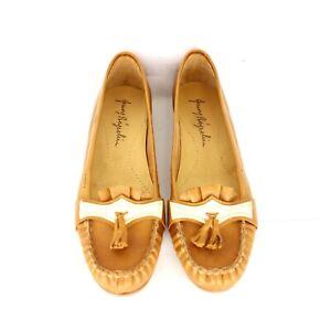 Henry-Beguelin-Chaussures-Femmes-Mocassins-38-Braun-Cuir-Pompon-Np-370-Neuf