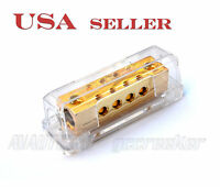 Car Audio Power/ground Distribution Block 2x 0/2ga In To 8x 8ga Out Pd15g