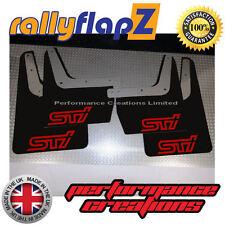 rallyflapZ SUBARU IMPREZA Classic (93-01) Mudflaps Black STi Logo Red 4mm PVC
