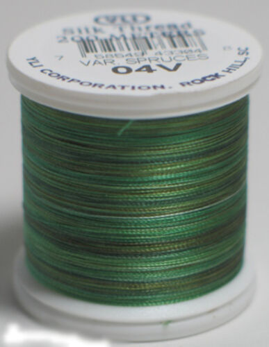 04V - Spruces YLI 100/% and 100wt Silk Variegated Thread