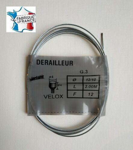 Cable de dérailleur universel Velox 2,00 m en acier vélo  vintage  derailleur