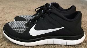Details about Nike Free 4.0 Women Running Shoe Size 8.5 Black White Workout Hike Shoes EUC