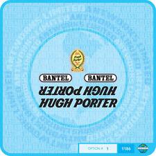 Hugh Porter Decals - Transfers - Stickers - Set 1