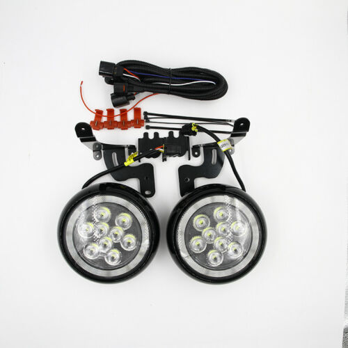 FITS MINI COOPER LED RALLY DRIVING FOG LIGHT DRL HALO RING DAYTIME RUNNING LAMPS