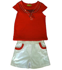 Conjuntos-nina-pantalones-cortos-y-camiseta-de-Caprichosa-rojo-talla-6