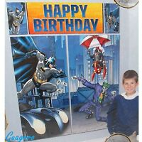 Batman Birthday Scene Setter Wall Banner Decoration Kit Party Supply Favor Prize