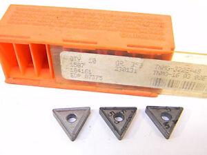 NEW-SURPLUS-10PCS-CARBOLOY-TNMG-322E48-GRADE-350-CARBIDE-INSERTS